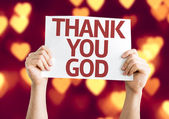 Thank You God card — Foto de Stock