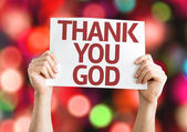 Thank You God card — Stock Photo