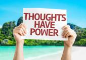 Thoughts Have Power card — Stock Photo