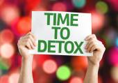 Time to Detox card — Stock Photo