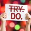 Try Do card — Stock Photo #63686633