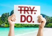 Try Do card — Stock Photo