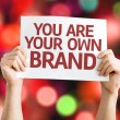 You are Your Own Brand card — Stock Photo #63702893