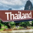Thailand wooden sign — Stock Photo #63707093