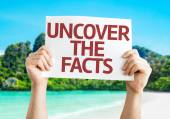Uncover the Facts card — Stock Photo