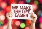 We Make the Life Easier card — Stock Photo