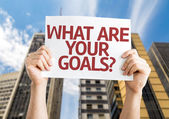 What are Your Goals? card — Stock Photo