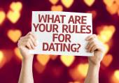 What are your Rules for Dating? card — Foto de Stock