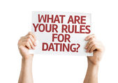 What are your Rules for Dating? card — Stock Photo