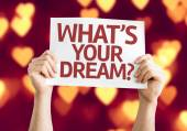 Whats your Dream? card — Stock Photo