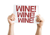 Wine!Wine! Wine!  card — Stock Photo