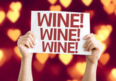 Wine! Wine! Wine! card — Stockfoto