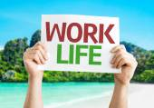 Work Life card — Fotografia Stock
