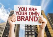 You are Your Own Brand card — Fotografia Stock