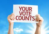 Your Vote Counts card — Stock Photo