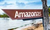 Amazonas wooden sign — Stock Photo