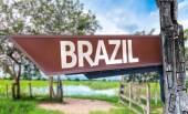 Brazil wooden sign — Stock Photo