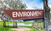 Environment wooden sign — Stock Photo