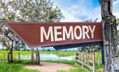 Memory wooden sign — Stock Photo