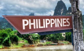 Philippines wooden sign — Fotografia Stock