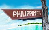 Philippines wooden sign — Stock Photo