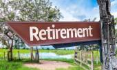 Retirement wooden sign — Stok fotoğraf
