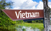 Vietnam wooden sign — Stock Photo
