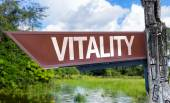 Vitality wooden sign — Stock Photo