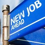Nieuwe baan vooruit teken — Stockfoto #63778287