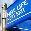 New Life Next Exit sign — Stock Photo #63778291