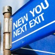 New You Next Exit sign — Stock Photo #63778301