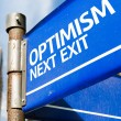 Optimism Next Exit sign — Stock Photo #63778311