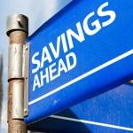 Savings Ahead sign — Stock Photo #63778367