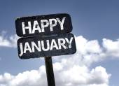 Happy January sign — Stock Photo