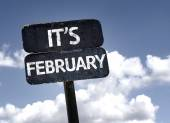 It's February sign — Foto de Stock