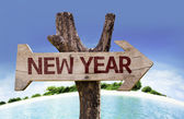 New Year sign — Stock Photo