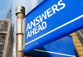 Answers Ahead  sign — Stock Photo