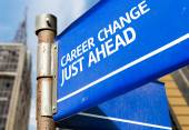 Career Change Just Ahead sign — Stock Photo