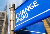 Change Ahead  sign — Stock Photo