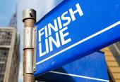 Finish Line sign — Stock Photo