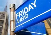 Friday Ahead sign — Stock Photo