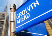 Growth Ahead sign — Stock Photo