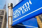 Growth Next Exit sign — Stock Photo