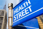Health Street sign — Stock Photo