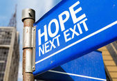 Hope Next Exit sign — Stock Photo