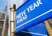 New Year Ahead sign — Stock Photo