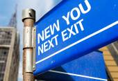 New You Next Exit sign — Stock Photo