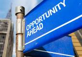 Opportunity Ahead sign — Stock Photo