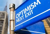 Optimism Next Exit sign — Stockfoto