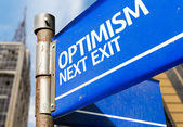 Optimism Next Exit sign — 图库照片